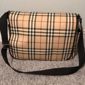 Burberry Nova Check Diaper Bag Crossbody Tote
